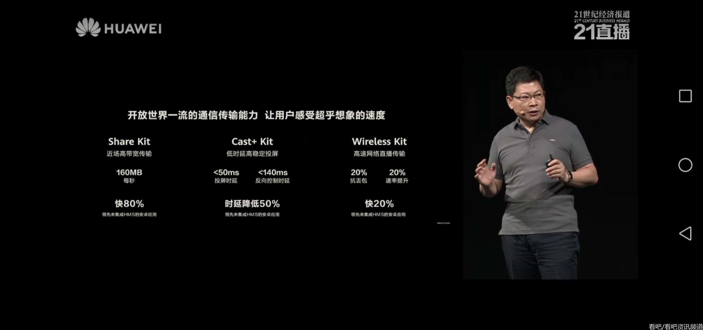 华为开发者大会,余承东发言介绍华为技术